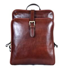 Shiny Leather Backpack Wall Pockets, Color Shades, Vegetable Tanned Leather, Italian Leather, Leather Backpack, Old Things, Backpacks, Belt, Zip