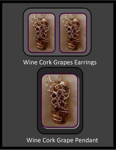 Wine Lovers Jewelry, wine earrings, grapes earrings, wine grapes  | ArtisticCreationsbyRose - Jewelry on ArtFire