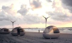 Live off grid in an Ecocapsule equipped with wind turbine and solar cells - Living in a shoebox Bratislava, Off Grid Tiny House, Micro House, Portable Solar Power, Portable House, Camping Glamour, Colani, Wind And Rain, Digital Trends