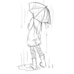 sketch of an umbrella - Google Search