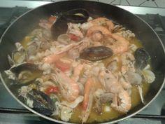 Fish souce for pasta called calamarata