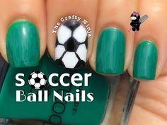 Soccer Ball Nail Art Tutorial by The Crafty Ninja