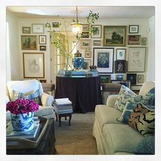 Lovely living room with art - Maura Endres
