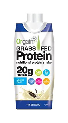 Orgain Grass Fed Shake, 20 Grams of Protein, Creamy Chocolate Fudge, 11 Oz, 12 Ct Whey Protein Shakes, Chocolate Protein Shakes, Milk Protein, Chocolate Fudge, Meal Replacement Shakes, Gourmet Recipes, Grass, Count, Feb 2017