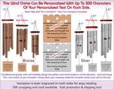 Memorare - Memorial Wind Chimes, The Perfect Personalized Sympathy Gift!