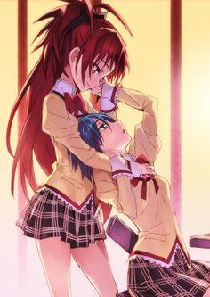 Kyoko & Sayaka | Madoka Magica #anime #yuri #shoujo-ai