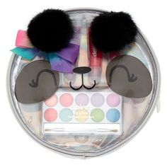 Claire's Paige the Panda Beauty Bag Set Baby Doll Accessories, Hair Accessories, Justice Accessories, Unicorn Fashion, Lip Gloss Tubes, Pink Sale, Kids Makeup, Cute School Supplies, Toy Sale