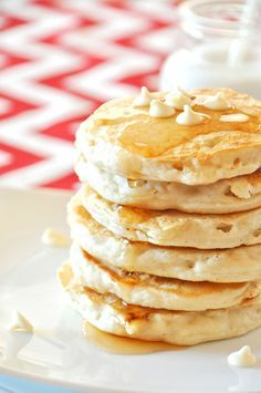 White Chocolate Macadamia Nut Pancakes | Community Post: 15 Delicious Vegan Pancakes That Are Totally Worth Waking Up For