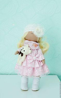 Купить Кукла Соня - розовый, кукла ручной работы, кукла, кукла в подарок, кукла интерьерная