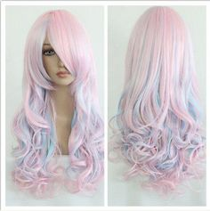Harajuku Color Mixed Women's Lolita Party Long Curly Cosplay Synthetic Hair Wigs in Health & Beauty, Hair Care & Styling, Hair Extensions & Wigs | eBay