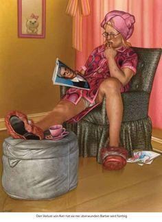 Barbie turns 50. Meister der komischen Kunst: Gerhard Haderer - SPIEGEL ONLINE - Spam. Spiegel Online, Art School, Illustration Art, Hades, Tea Time, Potato, Sunday, Couch, Humor