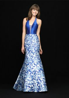 87cd869d161 Buy 2018 Halter Open Back Satin Blue Mermaid Sweep Sleeveless Prom    Homecoming Dresses 726 from