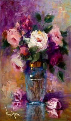 """""""Soy una artista autodidacta, casada, madre de cuatro hijos adultos, abuela y ahora bisabuela. En 1987 pinté mi primer cuadro, bajo l..."""