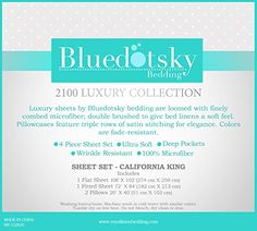4pc Sheet Set by Bluedotsky Bedding 2100 Luxury Collection - Hypoallergenic, Wrinkle, Fade and Stain Resistant - Deep Pocket, Soft Brushed, California King, Eggplant Color //http://bestadjustablebed.us/product/4pc-sheet-set-by-bluedotsky-bedding-2100-luxury-collection-hypoallergenic-wrinkle-fade-and-stain-resistant-deep-pocket-soft-brushed-california-king-eggplant-color/