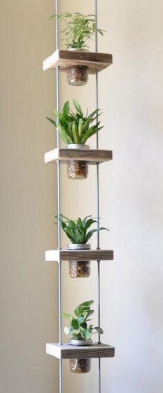 idées-fabriquer-pot-fleurs-suspendu-bocaux-verre