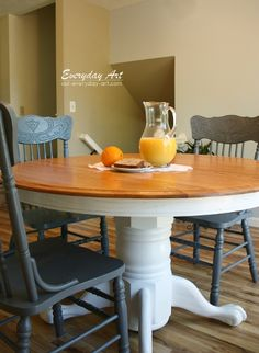 14 best distressed kitchen tables images dinning table painted rh pinterest com
