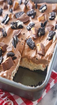 **Use gluten free cookies, to keep this one gluten free. Peanut Butter Oreo Dessert - The Girl Who Ate Everything