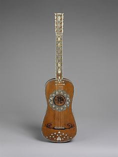 Guitar  Attributed to Matteo Sellas  (German, Füssen ca. 1599–1654 Venice)  Date:    ca. 1630–50  Geography:    Venice, Italy  Medium:    Spruce, bone, parchment, snakewood, ivory