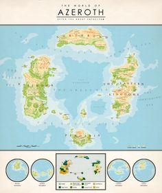 The World of Azeroth by Kuusinen.deviantart.com on @deviantART