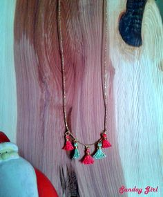 colorful tassel necklace!