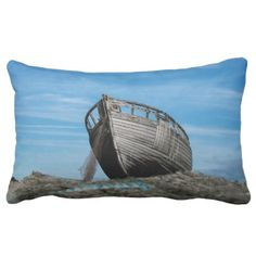 Modern photo boat design Polyester Throw Pillow - gift idea custom