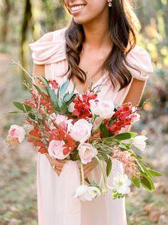 Photography: Alexandra Grace Photography - alexgracephotography.com  Read More: http://www.stylemepretty.com/2015/02/13/blushing-bridal-inspiration-bouquet-recipe/
