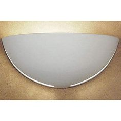 Great Capri Safety Yellow Half-Moon Wall Sconce - (In Safety Yellow)