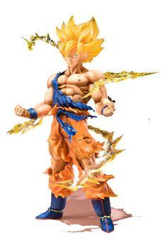 Free Shipping Anime Dragon Ball Z Super Saiyan Son Goku PVC Action Figure Collectible Toy 17CM
