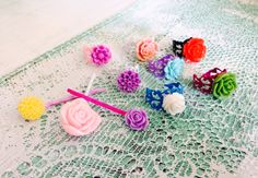Add a lil shabby chic to your accessories with colorful pastel rings and bobby pins !