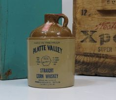 Platte Valley Corn Whiskey Jug USA McCormick by 13thStreetEmporium, $15.00