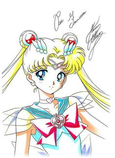Super Sailor Moon | art by Marco Albiero; from the Sailor Moon Thailand Fanclub Facebook Page