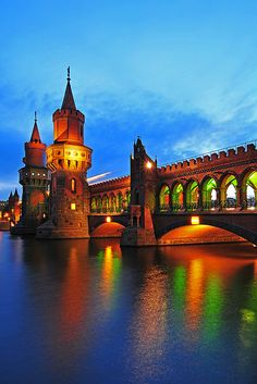 Oberbaumbrücke Bridge, Berlin, Germany Why Wait? Call #C.Fluker 866-680-3211 #travel #whywaittravels