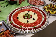 """Photo from album """"Кулинария"""" on Yandex. Party Platters, Food Trays, Russian Recipes, Food Presentation, Carne, Food To Make, Catering, Buffet, Appetizers"""