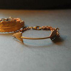 Brass Arrow Cuff Bracelet by LarissaLoden on Etsy