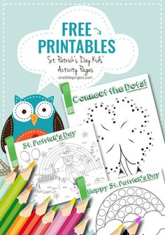 These FREE St. Patrick's Day kids' activity pages can be printed on standard 8.5″ x 11″ paper. Coloring, bingo dabber and connect the dots pages. Enjoy!