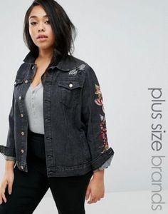 Shoptagr | Alice & You Embroidered Denim Jacket by Alice & You #fashion #trend #design #style  #onlineshop #shoptagr