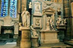 Poets Corner, Westminster Abbey.  Where Britain honors its late, great artists.