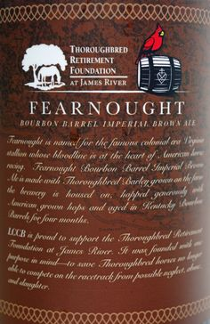 FEARNOUGHT - Bourbon Barrel Imperial Brown Ale - Lickinghole Creek Farm Craft Brewery