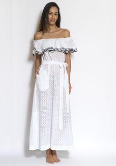 f68ab992744 Lisa Marie Fernandez Mira Flounce Dress Lisa Marie Fernandez