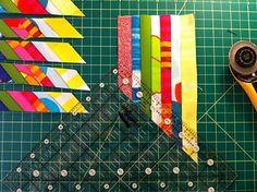 """woven"" lone star quilt tutorial-----Wow, pretty impressive.."