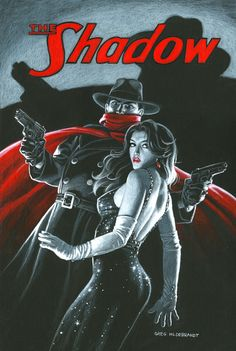The Shadow and Margo Lane - BB, Greg Hildebrandt Pulp Fiction Characters, Comic Book Characters, Comic Character, Comic Books Art, Comic Art, Pulp Fiction Kunst, Fictional Heroes, Alternative Comics, Gothic Fantasy Art
