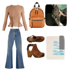 """""""The 70's!"""" by cassie-johnson2000 on Polyvore featuring RE/DONE, Alexander McQueen, French Connection and Bobbi Brown Cosmetics"""