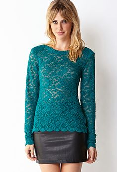 Sweet Lace Top | FOREVER21 - 2000066358 #ForeverHoliday #Forever21 #F21
