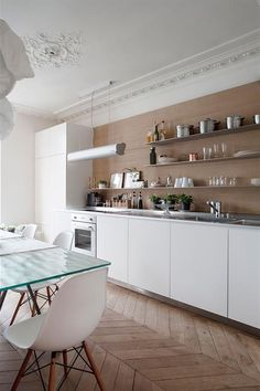 Cuisine d'un appartement Haussmannien à Paris