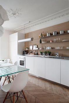Cuisine d'un appartement Haussmannien à Paris