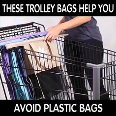 Thicken Cart Trolley Supermarket Shopping Bags - Home Cleaning Products Simple Life Hacks, Useful Life Hacks, Cute Car Accessories, Trolley Bags, Home Gadgets, Cool Inventions, Diy Home Crafts, Sewing Hacks, Sewing Projects
