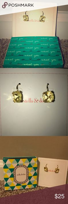 NIB Stella and Dot Gold Earrings Brand New In Box Stella and Dot Gold Earrings Stella & Dot Jewelry Earrings