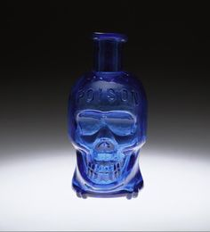 Skull shaped poison bottle, 19th century – Museum of American Glass at Wheaton Village