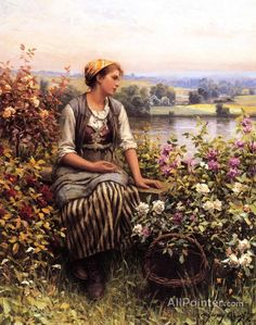 Daniel Ridgway Knight,Daydreaming oil painting reproductions for sale
