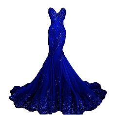 Pettus Women's Sweetheart Long Prom Dress Mermaid Appliue Evening Gown Formal Dress